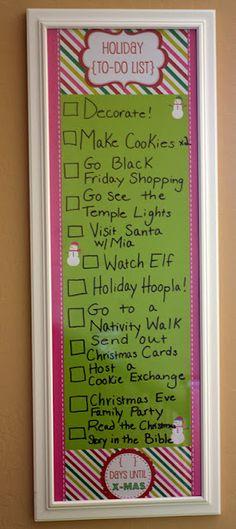 Food, Folks, and Fun: Day 1 of 12 Days of Christmas Fun: Christmas To-Do List Printable- you could make these Hannah!
