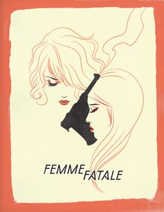'Femme Fatale' by Chenoa Gao - Illustration from Canada
