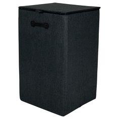 Wäschekorb, L:35 x B:35 x H:58cm, schwarz Storage, Paper, Homes, Purse Storage, Warehouse, Store
