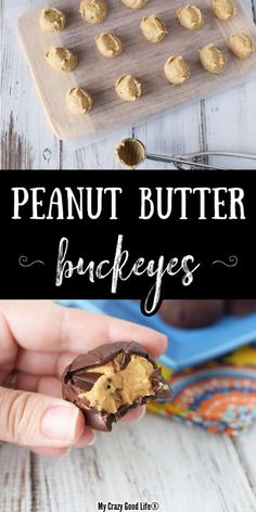 These Healthy Buckeyes are a gluten free way to satisfy a peanut butter cup craving! Just four ingredients to a low sugar and healthy dessert–including honey and coconut flour! 21 Day Fix Desserts, Great Desserts, Best Dessert Recipes, Delicious Desserts, Healthy Recipes, Tart Recipes, Ww Recipes, Candy Recipes, Dinner Recipes