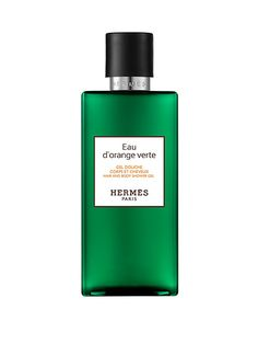 Hermès Eau d'Orange Verte Hair and Body Shower Gel This body wash has the same fresh citrus-y scent as the Eau d'Orange Verte fragrance and is packaged in a similarly gorgeous emerald-green bottle, both of which will make any bathroom ten times more luxurious.