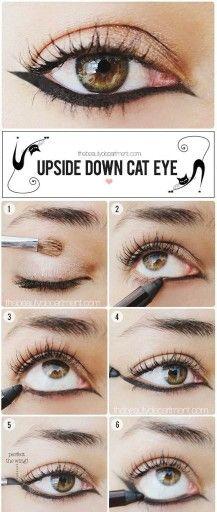 Upside down cat eye.