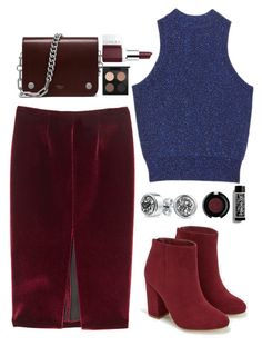 """""""Red Velvet"""" by designmine ❤ liked on Polyvore featuring ASOS, JustFab, Clinique, MAC Cosmetics, tarte and Bling Jewelry"""