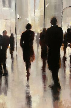 Night Life in Atlanta, by Lorraine Christie, T- 125 Painting People, Figure Painting, Painting & Drawing, Art Aquarelle, Watercolor Paintings, Watercolour, Art Graphique, Figurative Art, Painting Inspiration