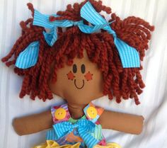 Brown Baby Rag Doll name Donna Four Doll My by LillieGiggles