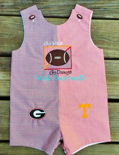 House Divided collegiate baby boy LongAll. $43.00, via Etsy.