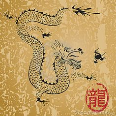 Ancient Chinese Dragon - The Dragon in Feng Shui represents wealth, the element Water and protection