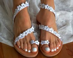 Handmade Wedding Sandals by LovelyBrideByAnna on Etsy Discover our collection of Exquisite Handmade Wedding Sandals & Bridal Heels! #weddingsandals #weddingshoes #weddingpearls #handmadesandals #bridalsandals #bridalshoes #greeksandals #pearlsandals #weddingflats #lacesandals #weddinglace #flowersandals #whiteweddingshoes #flatweddingshoes #weddingflats #bridalflats #romanticsandals #weddingsandalslace #silkshoes