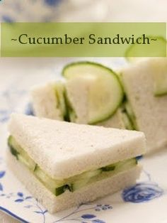 How to Make Cucumber Sandwiches...one of my all time favorite things, along with shrimp salad sandwiches done right.