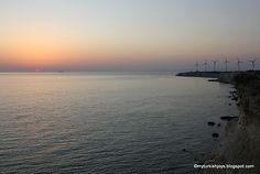 Sunset and the windmills in #Bozcaada, Turkey