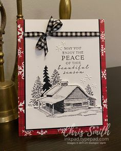 Stampin Up Christmas, Christmas Cards To Make, Christmas Minis, Christmas In July, Xmas Cards, Holiday Cards, Stampin Up Weihnachten, Stamping Up Cards, Winter Cards