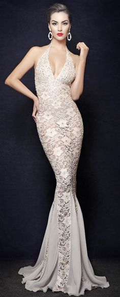 THIS is the Camille Flawless dress I tried on and almost made my wedding dress... the lining was nude, not white, though, and there were thousands of swarovski crystals embedded in it.  Absolutely. Beautiful.