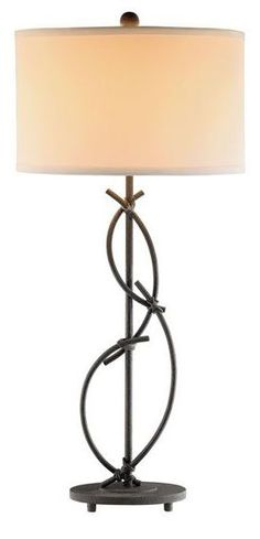 Rustic Twisted Metal Table Lamp by CORT | CORT.com
