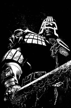 Judge Dredd Cover 5 by Spacefriend-KRUNK armor clothes clothing fashion player character npc | Create your own roleplaying game material w/ RPG Bard: www.rpgbard.com | Writing inspiration for Dungeons and Dragons DND D&D Pathfinder PFRPG Warhammer 40k Star Wars Shadowrun Call of Cthulhu Lord of the Rings LoTR + d20 fantasy science fiction scifi horror design | Not Trusty Sword art: click artwork for source