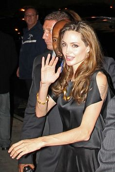 """Angelina Jolie Photos: Angelina Jolie and Brad Pitt attend an after party celebration for the release of the new film """"In the Land of Blood and Honey"""" at Le Bain Nightclub in New York"""