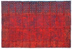 D-30.Aug.2013 66.5x96cm Mixed madia/paper making, painting on it, tied paper strings  林孝彦 HAYASHI Takahiko 2013