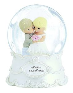 Precious Moments Wedding Couple Waterball Figurine