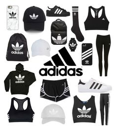 """adidas"" by zdecker ❤ liked on Polyvore featuring adidas Originals, Casetify, adidas and Topshop"