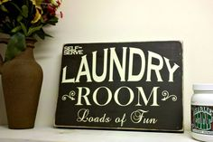 Laundry Room Loads of Fun typography by OliverphotoGraphics, $30.00