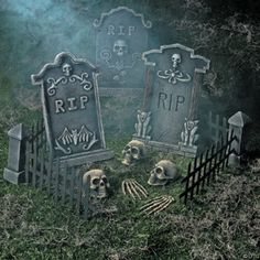 Create the haunted house of your dreams or nightmares when you shop spirit s wide selection of halloween decorations. From scary halloween decorations to party decorations we have everything you need to transform every room of your home. Halloween als . Casa Halloween, Halloween Outside, Halloween Tombstones, Halloween Haunted Houses, Outdoor Halloween, Costume Halloween, Holidays Halloween, Vintage Halloween, Diy Halloween Graveyard