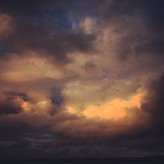 Clouds over the Atlantic. Port Isaac Cornwall. 12th August 2014.