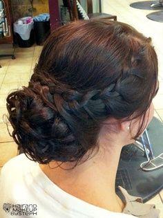 braided updo fashion decorating ideas it yourself gifts Twist Braid Hairstyles, Fancy Hairstyles, Wedding Hairstyles, Updo Hairstyle, Wedding Hair And Makeup, Bridal Hair, Hair Makeup, Bridesmaid Hair, Prom Hair