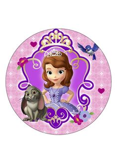 "Sofia the first 7.5"" cake topper or 24 x cupcake toppers wafer paper by CJscakecreations on Etsy"