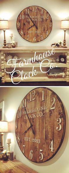 Over sized clocks! In love! clocks| oversized| walls| decor| farmhouse| etsy| #ad