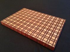 Plaid Cutting Board by ArtisanWoodwright on Etsy End Grain Cutting Board, Diy Cutting Board, Wood Cutting Boards, Butcher Block Cutting Board, Wood Crafts, Diy And Crafts, Woodworking Box, Wooden Kitchen, Panel