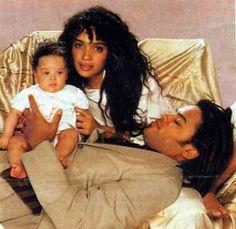 Lenny Kravitz, Lisa Bonnet and daughter Zoe