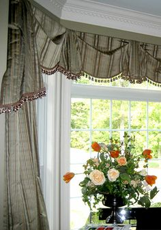 bay window treatment ideas living room | ... treatments for virtually any window style and window size bay window