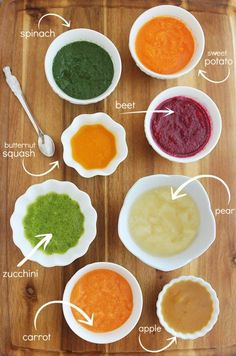 8 Easy Homemade Baby Purées: First Foods – Eight nutritious, wholesome (and incredibly quick & easy) baby food recipes are fresh on the table for your little one! Along with all the best products and tips I found helpful for preparing, storing and feeding Toddler Meals, Kids Meals, Toddler Food, Toddler Activities, Making Baby Food, Starting Baby Food, Baby First Foods, Baby Weaning First Foods, Baby First Solid Food