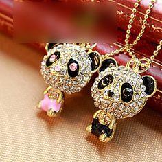 les femmes de diamants collier panda – EUR € 2.05