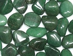 Green Aventurine -Brazil- A good luck stone, brings wealth and stimulates creativity.