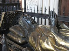 Margaret Beaufort's tomb in the south aisle of the Henry VII Lady Chapel in Westminster Abbey.