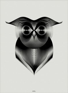 This series of animal illustrations by Milan-based designer Andrea Minini began as a design experiment to obtain complex shapes and depth starting with just a few lines. Using Adobe Illustrator, Minini created textured moiré patterns that give each illustration a surprising intensity.