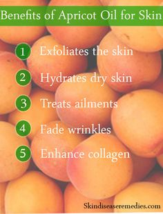 Nutrients like vitamin A, E and omega-6 fatty acids residing in apricot kernel oil help to balance the moisture on the skin and enhance collagen production. It nourishes the skin to make it free from chronic ski ailments like eczema with anti-inflammatory agents.