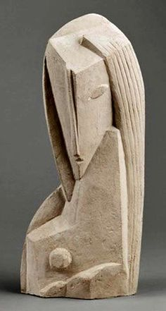 Henri Laurens, Tete de Femme (Frauenkopf), 35 x x 10 cm (incl. Stone Sculpture, Sculpture Clay, Abstract Sculpture, Sculptures Céramiques, Sculpture Projects, Contemporary Sculpture, Contemporary Art, Stone Carving, Clay Art