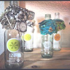 Bottles for bracelet holders. #DIY