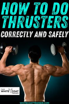 The thruster is an excellent combination exercise that trains a very high number of muscle groups simultaneously. By combining a Squat and Overhead Press, the thruster has one of the longest range of motions possible in one exercise movement. BENEFITS OF THE THRUSTER Combines two functional exercises to target multiple muscle groups at once, Improves the mobility of the hips, knees, thoracic spine, ankle, and shoulder joints, and Read more... #thruster #howtoworkout #howtoexercise Workout Template, Shoulder Joint, Overhead Press, Muscle Groups, Total Body, Fitness Diet, Hiit, Body Weight
