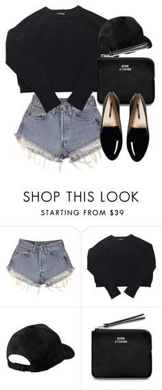 """""""Untitled #5941"""" by laurenmboot ❤ liked on Polyvore featuring Levi's, American Apparel and Acne Studios"""