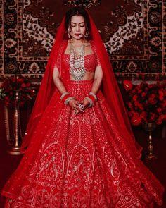Red Lehenga, Party Wear Lehenga, Bridal Lehenga Choli, Anarkali, Lengha Dress, Brocade Lehenga, Ghagra Choli, Indian Wedding Outfits, Bridal Wedding Dresses