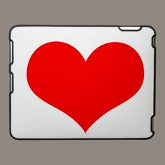 Big red heart. ipad cases by ccrcats.