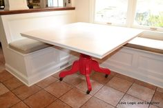 Creating a Home with Love Logic and Laughter: New Kitchen Table - diy