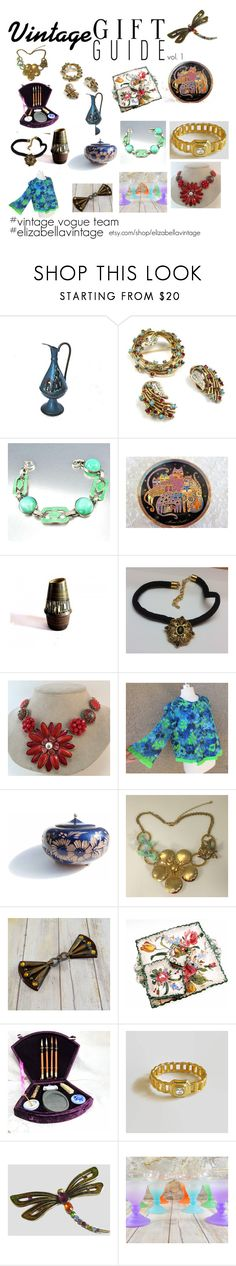 """Vintage Gift Guide - Volume 1"" by elizabellavintage ❤ liked on Polyvore featuring Ciner, Reclaimed Vintage, vintage, etsy, holidaygift, giftsforher and vogueteam"