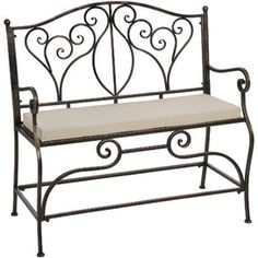 2 Seater Iron Bench
