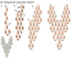"Basic Stitch ""DIAGONAL Peyote"""