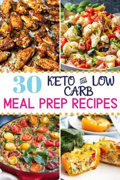 30 Easy Keto Meal Prep Ideas that will get you through the week. Tips for how to meal prep and low-carb recipes for breakfast, lunch, dinner & dessert. Lunch Recipes, Healthy Dinner Recipes, Low Carb Recipes, Breakfast Recipes, Spicy Recipes, Breakfast Ideas, Healthy Food, Breakfast Lunch Dinner, Dinner Dessert