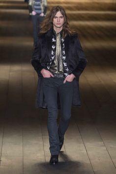 2fd7ad3365c03 Male Fashion Trends  Saint Laurent Fall-Winter 2018 - Paris Fashion Week  Desfiles