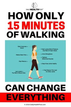 How Only 15 Minutes of Walking Can Change Everything via @dailyhealthpost